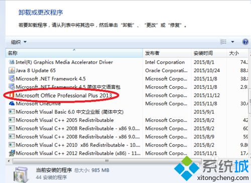 "找到""Microsoft Office Professional Plus 2013"""