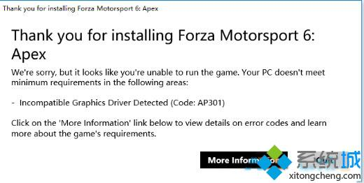 Thank you for installing Forza Motorsport 6:Apex