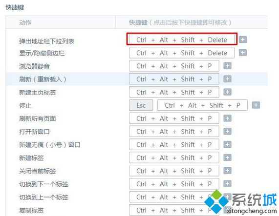"设置为""ctrl+alt+shift+P"""