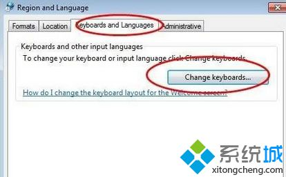 "点击""change Keyboards..."""