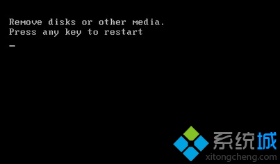 "Win7开机提示""Remove disks or other media"""