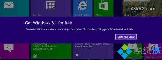 Windows 8.1更新的通知