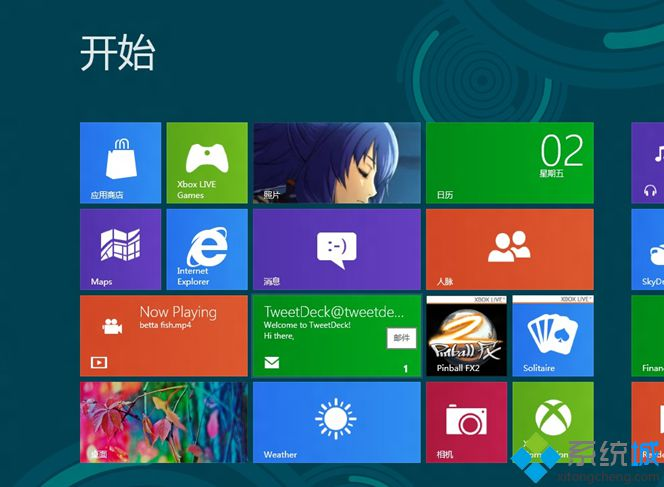 Windows 8 Consumer Preview 评估版本。Build 8250