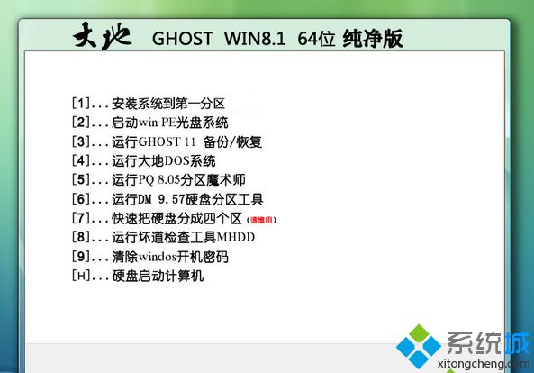大地DADI GHOST WIN8.1 SP1 64位纯净版