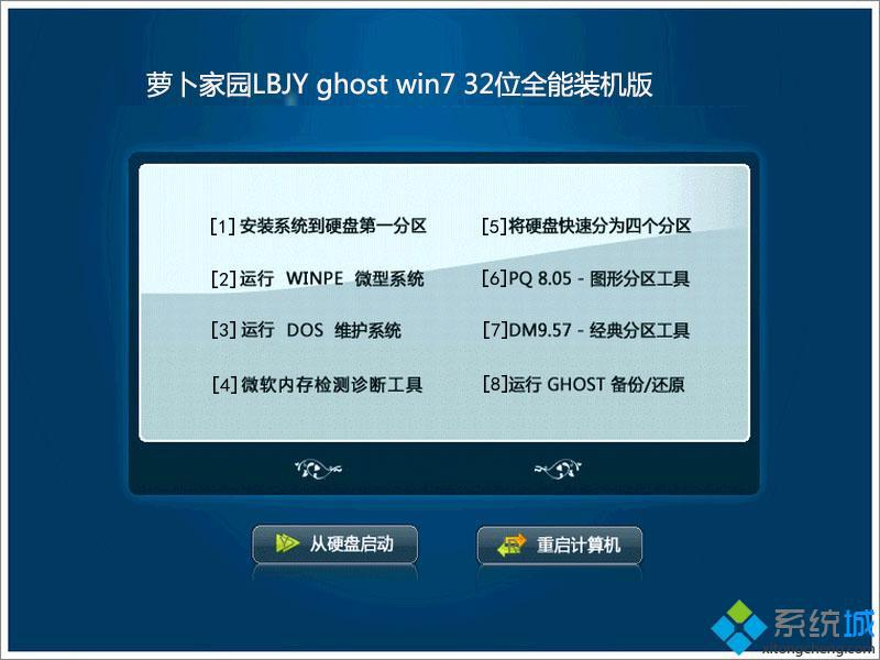 萝卜家园LBJY ghost win7 32位全能装机版部署图